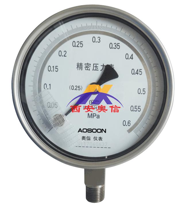 YB-150BB全不锈钢精密压力表,0.25级