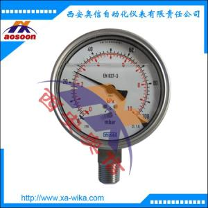 WIKA双刻度633.50.100 膜盒压力表 德国wika压力表