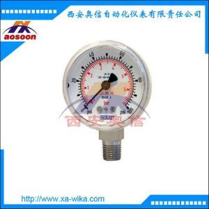 130.15不锈钢压力表 wika波登管压力表 130.15
